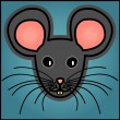 Cartoon grey mouse — Stock Vector