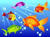 缤纷多彩的鱼 — 图库矢量图片