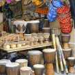 Djembe and african craft — Stock Photo