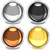 Colorful glossy buttons-set3 — Stock Vector