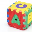 Fun alphabet cube — Stock Photo