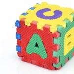 Fun alphabet cube — Stock Photo