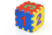 Fun number cube — Stock Photo
