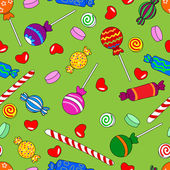 Seamless candy pattern — Vector de stock