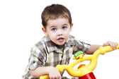 Little guy on a bike — Stock Photo