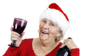 Grandma is making a toast — Stock Photo