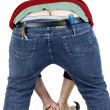 Plumbers crack - Stock Photo
