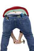 Plumbers crack — Stock Photo