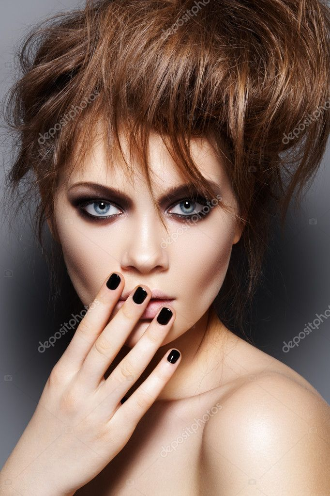 Punk Models http://depositphotos.com/6820986/stock-photo-Fashion-model-with-tousled-hair-make-up-manicure.-Fashion-portrait.html