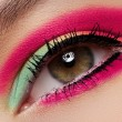 Cosmetics and beauty care. Macro close-up of beautiful green female eye — Stock Photo
