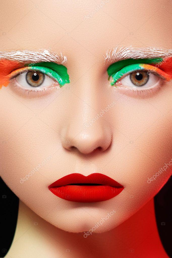 High fashion eye makeup