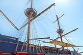 Old fashioned ship in sea — Stock Photo