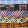 Plaid pieces of cloth — Stock Photo