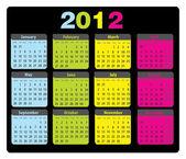 Kalender 2012 maandag-zondag — Stockvector
