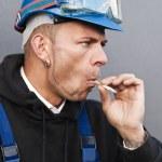 Smoking worker — Stock Photo #7097964
