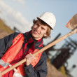 Stock Photo: Worker with shovel