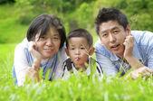 Outdoor family — Stock Photo