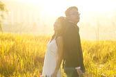 Venkovní ženich a nevěsta — Stock fotografie