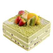 Japanese Macha Cake — Stock Photo