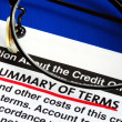 Stock Photo: Summary of terms in credit card offer