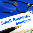 Provide financial solutions and support to Small Business - Stock Photo