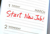 Start a new job concepts of new employment — Stock Photo