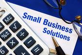 Finansiella lösningar och stöd till småföretag — Stockfoto