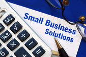 Provide financial solutions and support to Small Business — Stock Photo