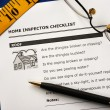 Stock Photo: Checklist from the Real Estate Inspection Report
