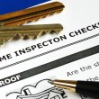Checklist from the Real Estate Inspection Report — Stock Photo #7812048