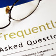 Check out Frequently Asked Questions (FAQ) section — Foto de stock #7812049
