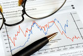 Analyze the investment trend from the chart — Stock Photo