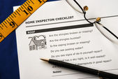 Checklist from the Real Estate Inspection Report — Stock Photo