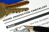 Checklist from the Real Estate Inspection Report — Стоковое фото
