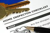 Checklista från inspektionsrapporten fastigheter — Stockfoto