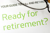 Getting ready for retirement concept of financial planning — Stock Photo