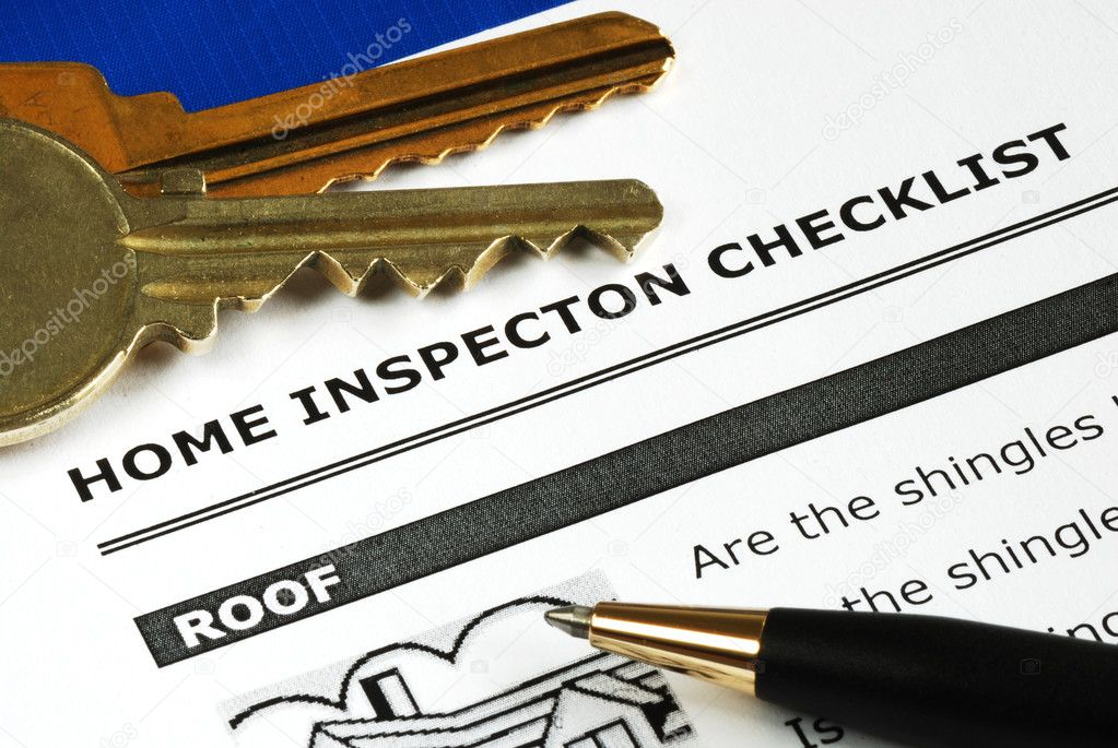 Checklist from the Real Estate Inspection Report  Stock Photo #7812048