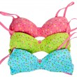 Stock Photo: Three color cotton bra