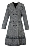 Female gray overcoat — Stock Photo