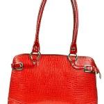 Red leather ladies handbag — Stock Photo #6995754