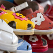 Colorful children's shoes — Stockfoto