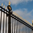 Stock Photo: Steel fence with gold spears
