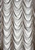White curtains draped theater — Stock Photo