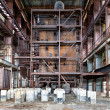 Dilapidated old boiler house — Stock Photo