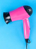 Pink hair dryer — Stock Photo