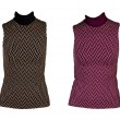 Collage of two women's vest with a geometric pattern — Stock Photo
