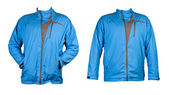A collage of two blue sports jacket — Stock Photo