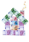 House of euro banknotes — Stock Photo