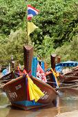 Lagün park tay tekneler — Stok fotoğraf