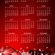 Calendar for 2012 year with christmas balls and snowflakes — Stock Photo